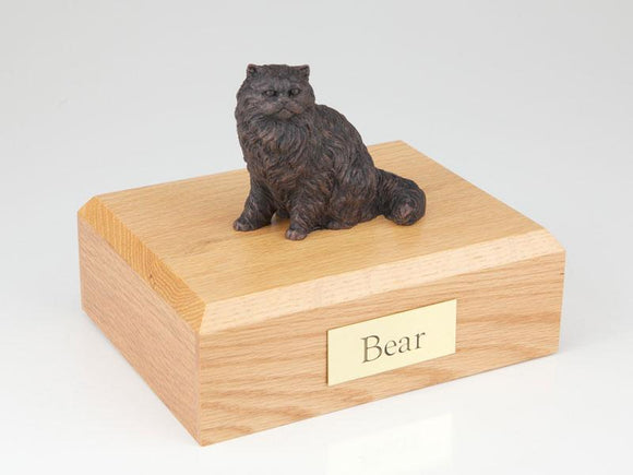 Cat Persian Bronze Cat Figurine Pet Urn