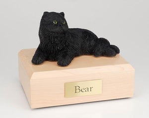 Cat Persian Black Laying Figurine Cat Cremation Urn Ever My Pet