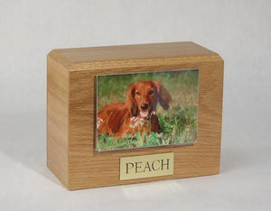 Photo Urn - Oak - 4 x 6 Photo Holder
