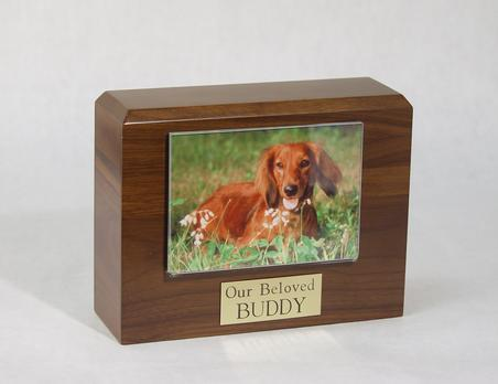 Photo Urn - Walnut - 4 x 6 Photo Holder