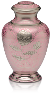 Pink Rose Adult Cremation Urn