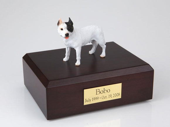 Pit Bull Terrier White Dog Figurine Urn Ever My Pet