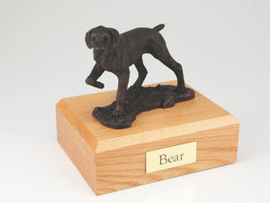 Pointer Bronze Dog Figurine Pet Cremation Urn