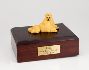 Poodle Laying Show Cut Apricot Dog Urn Ever My Pet
