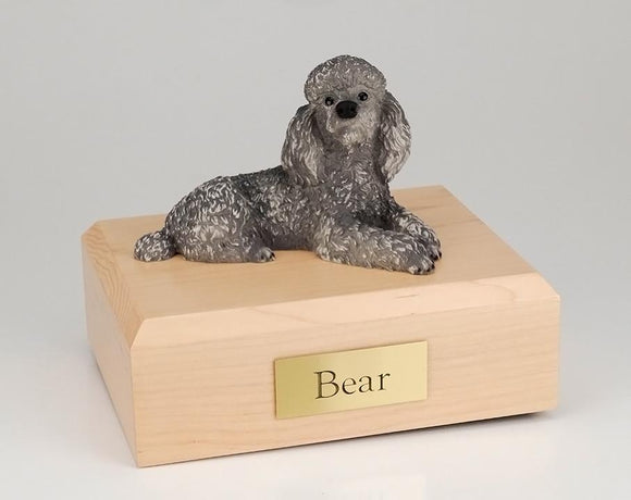Poodle Laying Gray Figurine Dog Urn Ever My Pet