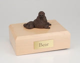 Poodle Laying Show Cut Chocolate Dog Figurine Urn Ever My Pet