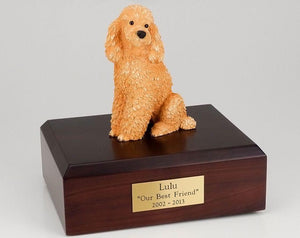 Poodle Sitting Apricot Figurine Dog Urn Ever My Pet