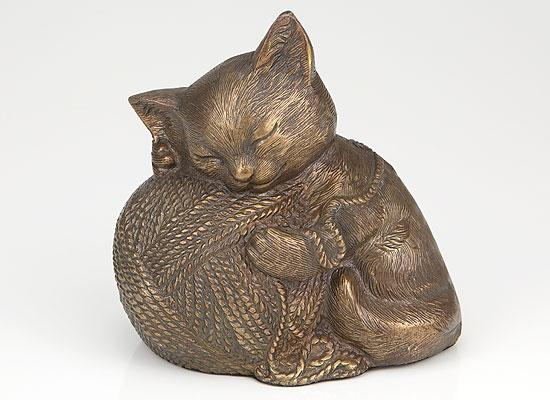 Precious Kitty Bronze Cat Cremation Urn