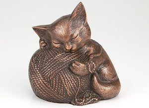 Precious Kitty Copper Cat Cremation Urn