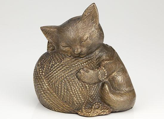 Precious Kitty Gold Cat Cremation Urn