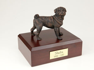 Pug Bronze Dog Figurine Pet Cremation Urn Ever My Pet