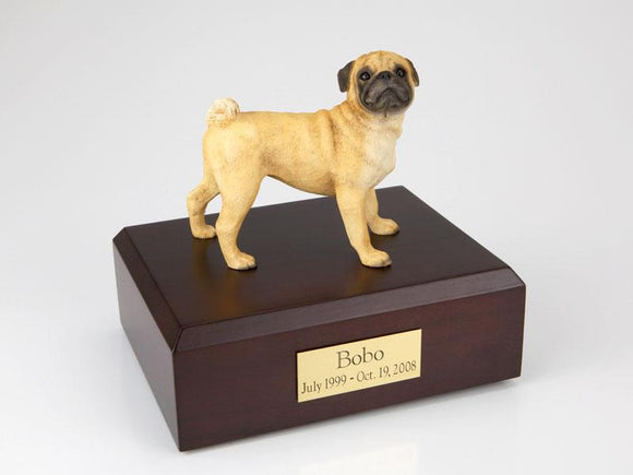 Pug Dog Figurine Cremation Dog Urn
