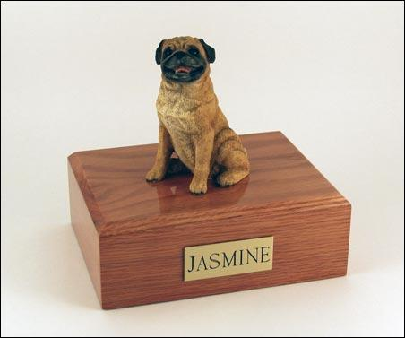 Pug Sitting Dog Figurine Urn Ever My Pet