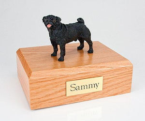 Pug Standing Black Dog Figurine Urn Ever My Pet