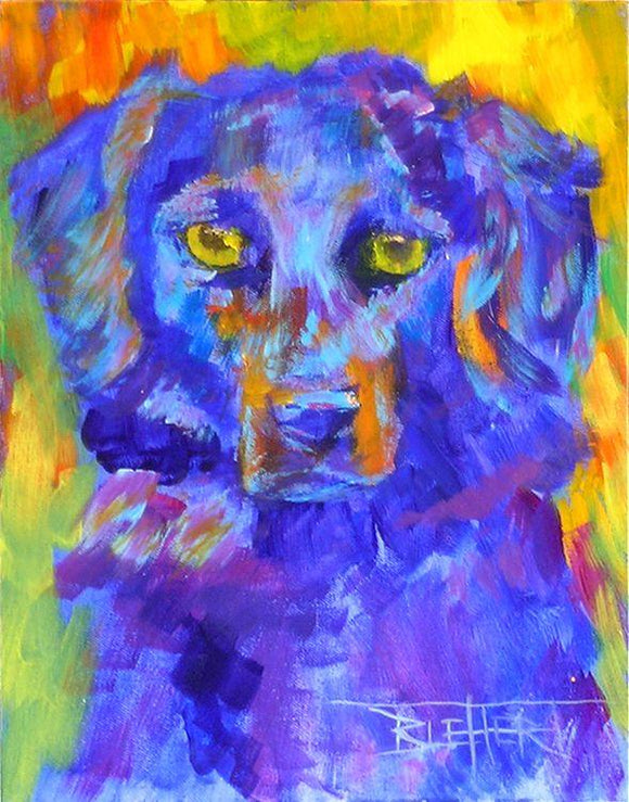 Dog Portrait On Canvas