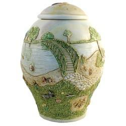 Small Rainbow Bridge Dog Pet Urn