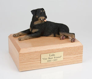 Rottweiler Laying Dog Figurine Urn Ever My Pet