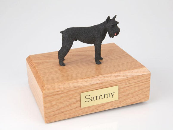 Schnauzer Giant (Black) Figurine Dog Urn