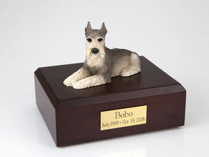 Schnauzer Laying Tari Figurine Dog Urn Ever My Pet