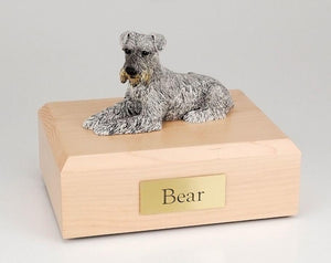 Schnauzer (Silver) Figurine Pet Dog Urn