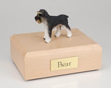 Schnauzer Ears Down Gray Dog Urn Ever My Pet