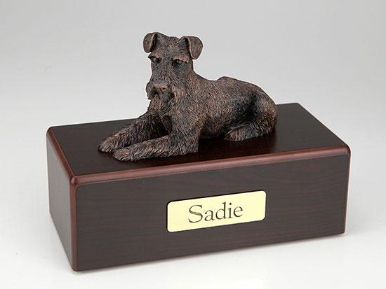 Schnauzer Ears Down Economy Bronze Series  Dog Pet Urn