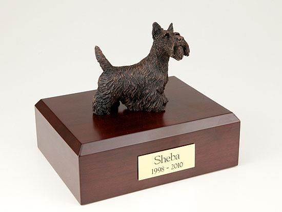 Scottish Terrier Bronze Dog Figurine Pet Cremation Urn