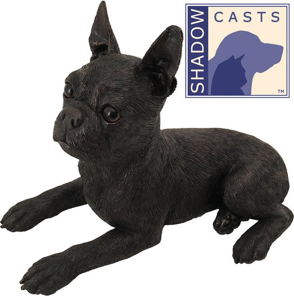 Ever My Shadow Bronze Boston Terrier Dog Urn