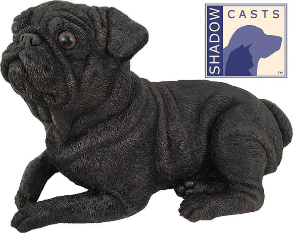 Ever My Shadow Bronze Pug Dog Urn
