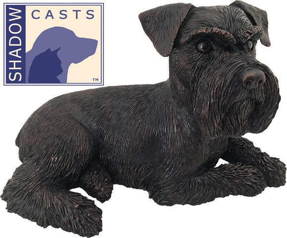Ever My Shadow Bronze Schnauzer Ears Down Dog Urn
