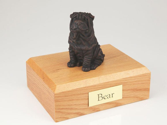 Shar Pei Bronze Dog Figurine Pet Cremation Urn Ever My Pet
