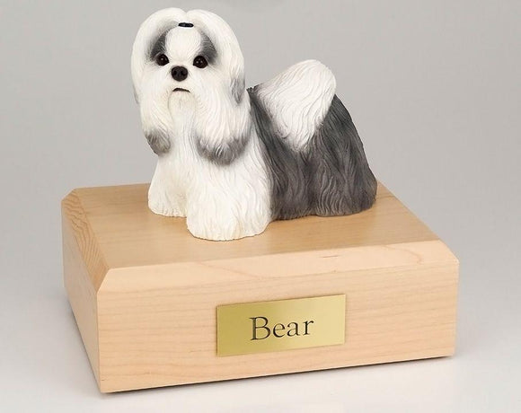 Shih Tzu (Black & White) Figurine Dog Urn