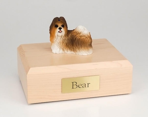 Shih Tzu Rust Red and White Figurine Dog Urn Ever My Pet