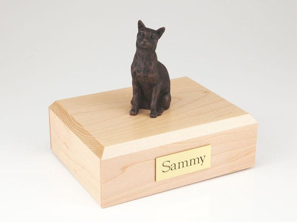 Cat Siamese Bronze Cat Figurine Pet Urn