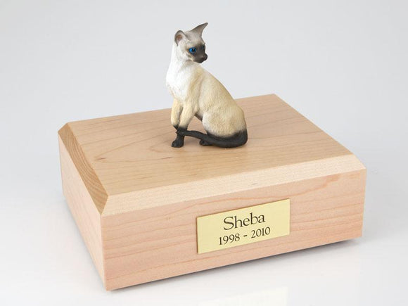 Cat Siamese Seal Point Sitting Up Figurine Cat Urn Ever My Pet