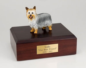Silky Terrier Dog Cremation Figurine Urn