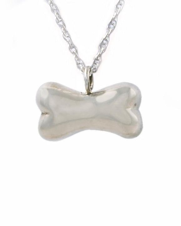 Bone Pet Cremation Jewelry Urn Pendant Silver