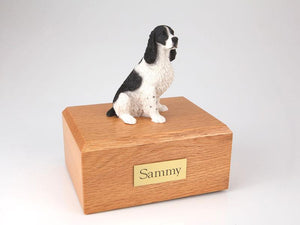 Springer Spaniel Sitting Black and White Figurine Dog Urn Ever My Pet