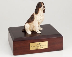 Springer Spaniel Liver and White Dog Pet Urn Ever My Pet