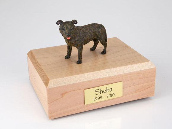 Staffordshire Bull Terrier Brindle Figurine Dog Urn Ever My Pet