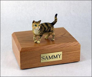 Cat Tabby (Brown) Short Hair Figurine Urn