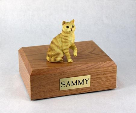 Cat Tabby Red Short Hair Sitting Up Figurine Cat Urn Ever My Pet