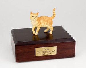 Cat Tabby Red Short Hair Figurine Cat Urn Ever My Pet