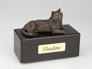 Tabby Cat Economy Bronze Series Cat Pet Urn
