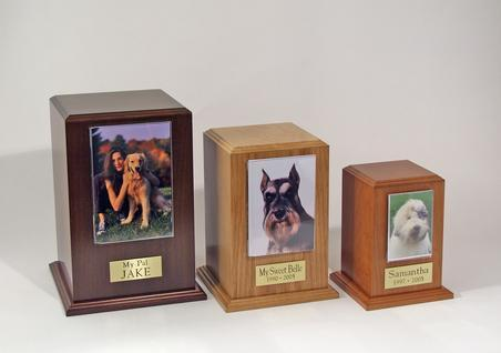 Tower Photo Urns - Walnut, Oak, or Cherry