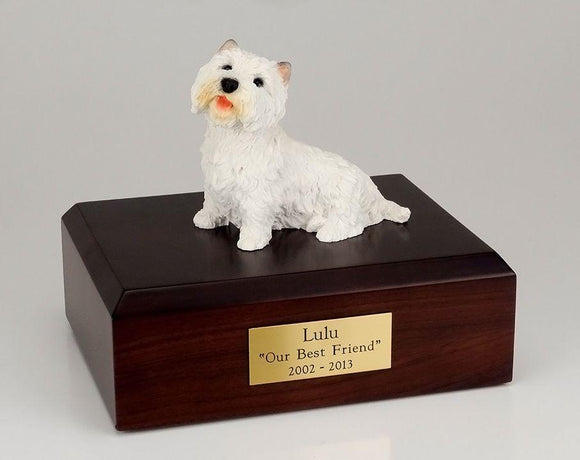 Westie Sitting Dog Figurine Urn Ever My Pet