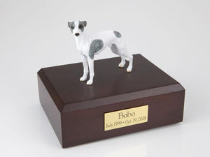 Whippet White and Grey Dog Figurine Urn Ever My Pet