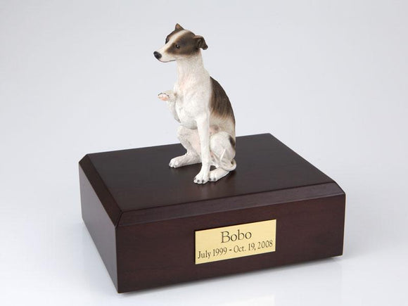 Whippet Sitting Spotted Brown Figurine Dog Urn Ever My Pet