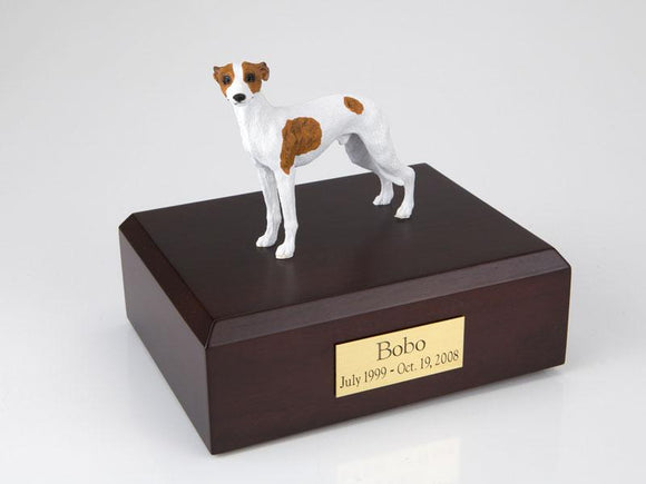 Whippet (White/Spotted) Figurine Dog Urn