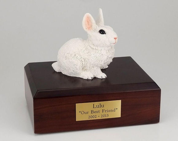Rabbit (White) Bunny Figurine Urn